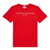 vaatteet Pojat Lyhythihainen t-paita Tommy Hilfiger SELINERA Punainen