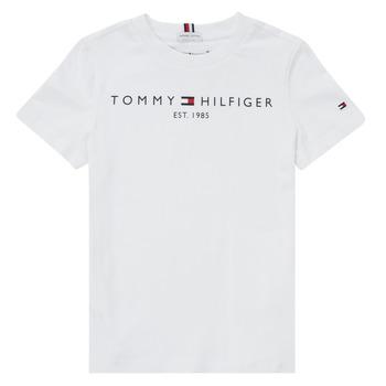 vaatteet Pojat Lyhythihainen t-paita Tommy Hilfiger SELINERA Valkoinen