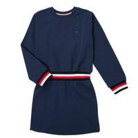 vaatteet Tytöt Lyhyt mekko Tommy Hilfiger ARNO Laivastonsininen