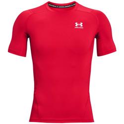 vaatteet Miehet Lyhythihainen t-paita Under Armour Heatgear Armour Short Sleeve Rouge