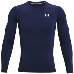 vaatteet Miehet T-paidat pitkillä hihoilla Under Armour Heatgear Armour Long Sleeve Bleu marine