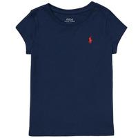 vaatteet Tytöt Lyhythihainen t-paita Polo Ralph Lauren DRETU Laivastonsininen