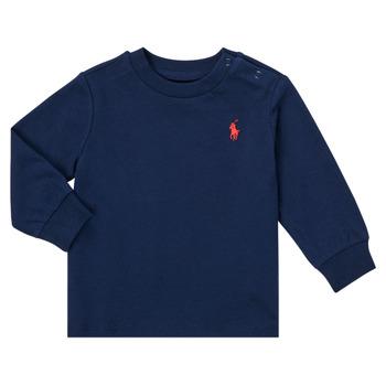 vaatteet Pojat T-paidat pitkillä hihoilla Polo Ralph Lauren FADILA Laivastonsininen