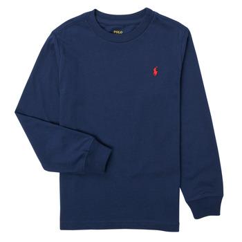 vaatteet Pojat T-paidat pitkillä hihoilla Polo Ralph Lauren KEMILO Laivastonsininen