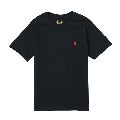 vaatteet Pojat Lyhythihainen t-paita Polo Ralph Lauren FANNY Musta