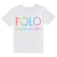 vaatteet Tytöt Lyhythihainen t-paita Polo Ralph Lauren FERILO Valkoinen