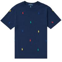 vaatteet Pojat Lyhythihainen t-paita Polo Ralph Lauren MOULINE Laivastonsininen