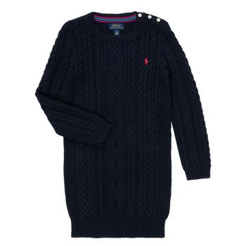 vaatteet Tytöt Lyhyt mekko Polo Ralph Lauren RURBE Laivastonsininen