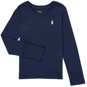 vaatteet Tytöt T-paidat pitkillä hihoilla Polo Ralph Lauren TENINA Laivastonsininen