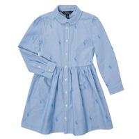 vaatteet Tytöt Lyhyt mekko Polo Ralph Lauren KATINA Sininen