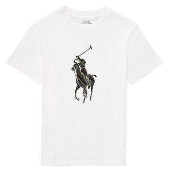 vaatteet Pojat Lyhythihainen t-paita Polo Ralph Lauren GUILIA Valkoinen