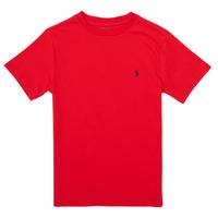 vaatteet Pojat Lyhythihainen t-paita Polo Ralph Lauren FOLLIA Punainen