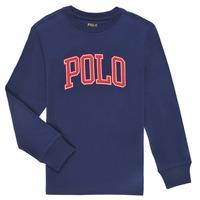 vaatteet Pojat T-paidat pitkillä hihoilla Polo Ralph Lauren METIKA Laivastonsininen