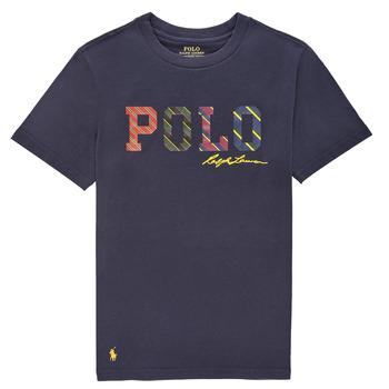vaatteet Pojat Lyhythihainen t-paita Polo Ralph Lauren COLLINA Laivastonsininen