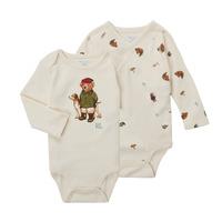 vaatteet Pojat Bodyt Polo Ralph Lauren TAKINA Vaalea