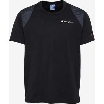 vaatteet Miehet Lyhythihainen t-paita Champion CAMISETA HOMBRE  KK001 Black