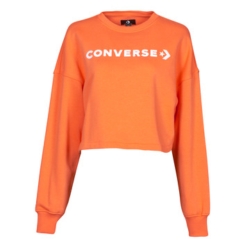 vaatteet Naiset Svetari Converse EMBROIDERED WORDMARK CREW Oranssi