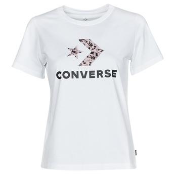 vaatteet Naiset Lyhythihainen t-paita Converse STAR CHEVRON HYBRID FLOWER INFILL CLASSIC TEE Valkoinen