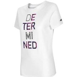 vaatteet Naiset Lyhythihainen t-paita 4F TSD018 Valkoiset