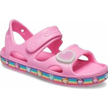 kengät Lapset Sandaalit ja avokkaat Crocs Fun Lab Rainbow Sandal Kids Vaaleanpunaiset