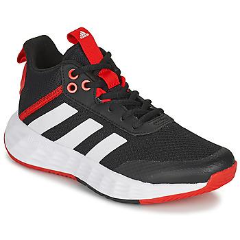 kengät Lapset Koripallokengät adidas Performance OWNTHEGAME 2.0 K Musta / Punainen