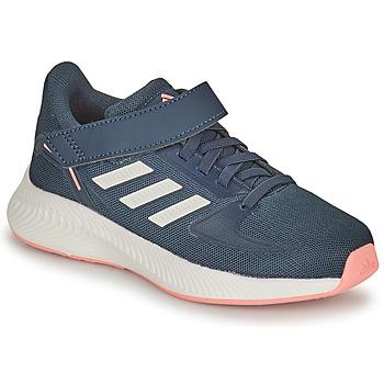 kengät Tytöt Juoksukengät / Trail-kengät adidas Performance RUNFALCON 2.0 C Laivastonsininen / Vaaleanpunainen