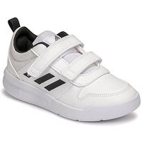 kengät Lapset Matalavartiset tennarit adidas Performance TENSAUR C Valkoinen / Musta