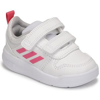 kengät Tytöt Matalavartiset tennarit adidas Performance TENSAUR I Valkoinen / Vaaleanpunainen