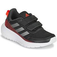 kengät Pojat Juoksukengät / Trail-kengät adidas Performance TENSAUR RUN C Musta / Punainen