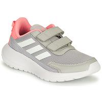 kengät Tytöt Juoksukengät / Trail-kengät adidas Performance TENSAUR RUN C Harmaa / Vaaleanpunainen
