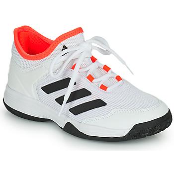 kengät Lapset Tenniskengät adidas Performance Ubersonic 4 k Valkoinen / Punainen
