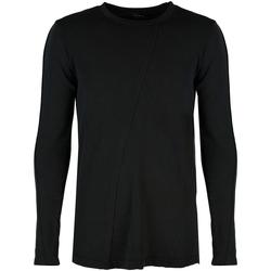 vaatteet Miehet T-paidat pitkillä hihoilla Xagon Man  Musta