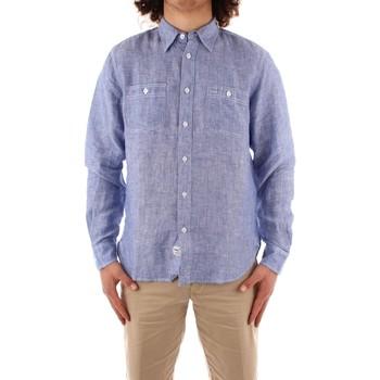 vaatteet Miehet Pitkähihainen paitapusero Blauer 21SBLUS01221 BLUE