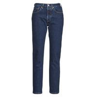 vaatteet Naiset Boyfriend-farkut Levi's 501 CROP Sininen