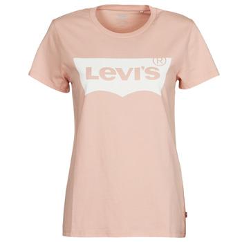 vaatteet Naiset Lyhythihainen t-paita Levi's THE PERFECT TEE Vaaleanpunainen