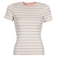 vaatteet Naiset Lyhythihainen t-paita Levi's SS RIB BABY TEE Monivärinen