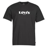 vaatteet Miehet Lyhythihainen t-paita Levi's SS RELAXED FIT TEE Musta