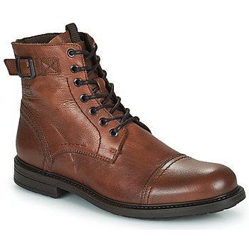 kengät Miehet Bootsit Jack & Jones JFW SHELBY LEATHER Konjakki