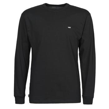vaatteet Miehet T-paidat pitkillä hihoilla Vans OFF THE WALL CLASSIC LS Musta