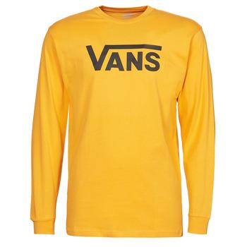 vaatteet Miehet T-paidat pitkillä hihoilla Vans VANS CLASSIC LS Keltainen / Musta