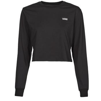 vaatteet Naiset T-paidat pitkillä hihoilla Vans JUNIOR V LS CROP Musta