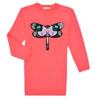 vaatteet Tytöt Lyhyt mekko Billieblush SOLIDA Vaaleanpunainen