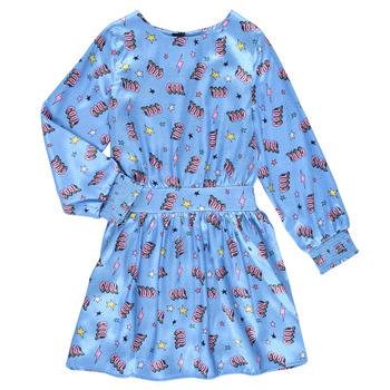 vaatteet Tytöt Lyhyt mekko Billieblush STIKA Sininen