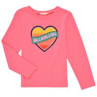 vaatteet Tytöt T-paidat pitkillä hihoilla Billieblush DEKOU Vaaleanpunainen