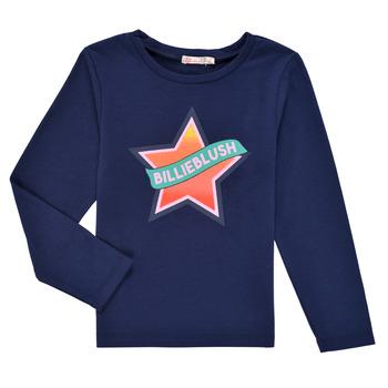 vaatteet Tytöt T-paidat pitkillä hihoilla Billieblush DEKOU Laivastonsininen