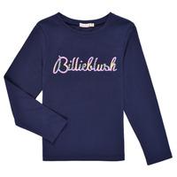 vaatteet Tytöt T-paidat pitkillä hihoilla Billieblush PETRA Laivastonsininen