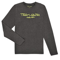 vaatteet Pojat T-paidat pitkillä hihoilla Teddy Smith TICLASS3 ML Harmaa