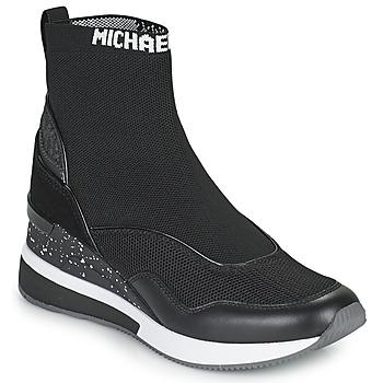 kengät Naiset Korkeavartiset tennarit MICHAEL Michael Kors SWIFT Musta
