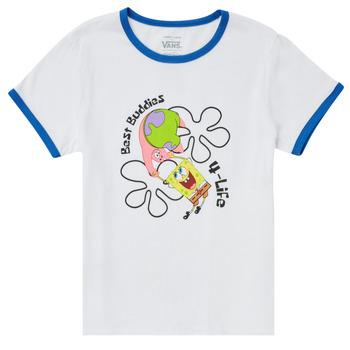 vaatteet Tytöt Lyhythihainen t-paita Vans VANS X SPONGEBOB BEST BUDDIES RINGER Valkoinen