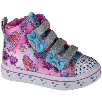 kengät Lapset Korkeavartiset tennarit Skechers Twi-Lites Mermaid Gems Rose